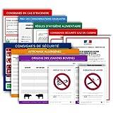 Pack affichages obligatoires restaurants - Plastifiés et effaçables - Édition 2021 - Fabriqués en France