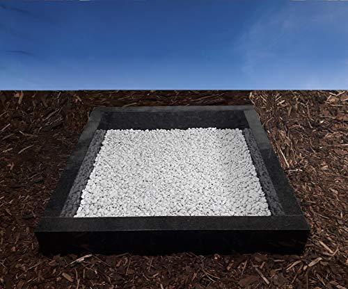 grabstein-gestaltung.de Urnengrab Einfassung Umrandung 100x100 cm Absolute Black Granit