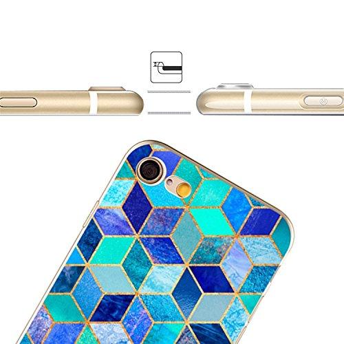 Coque Cover iPhone 6S Plus Souple Coque,MingKun Ultra-mince Motif Coréen Marbre TPU Bumper Case Cover Shell Coque pour iPhone 6S Plus Housse Etui pour iPhone 6 Plus 5.5 Pouces Motif Marbre Silicone TP Marbre Coquille-5