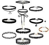 Toy - Tonsee 10 Pieces Klassische Gotische Tattoo Spitze Choker Halskette