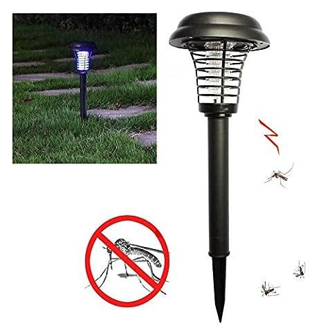 IPUIS 5pcs Solaire Lampe anti-moustique Insectifuge Solaire Pour Jardin/Pelouse/Maison(Au Pieds)