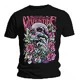 Bullet For My Valentine Pink Skull Eye T Shirt (Black)