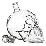 Flyyfree Kristall Schaedel Skull Shot Totenkopf Wein Vodka Glas Flasche 500ML