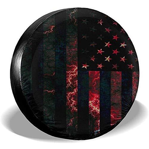 Hiram Cotton Spare Tire Cover Us Flag Copertura Ruota di Scorta Copertura Pneumatici Fuoristrada velocità Estrema Overdrive Univers