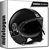 MOMO-DESIGN JET-HELM FIGHTER EVO SCHWARZ METAL CHROME ML