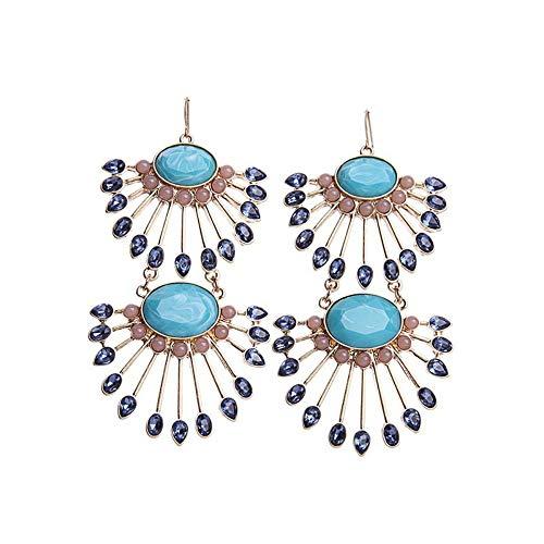 ZHOUYF Ohrringe Ohrstecker Ohrhänger Big Fan Form Ohrringe Für Frauen Online-Shop Einzigartige Modeschmuck Marke Ohrringe