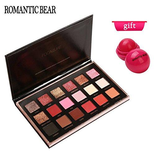 ROMANTIC BEAR 18 Farben Schimmer Matt Mineral Pigment Lidschatten Palette Nude Beauty Make-up Test