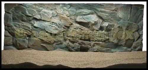 3D Aquarienrückwand 120x50 Rock