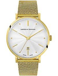 Larsson & Jennings Mixte Analogique Classique Quartz Montre avec Bracelet en Acier Inoxydable LGN38A-CMGLD-CSG-Q-P-GW-O