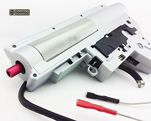 AIRSOFT AEG 8MM GEARBOX M4 V2 REAR WIRE 100:300 HELICAL APS QUICK RELEASE TOMTAC ULTIMATE