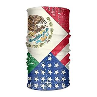 Unisex Stylish Mexico Mexican USA America Flag Quick Dry Microfiber Headwear Outdoor Magic Bandana Neck Gaiter Head Wrap Headband Scarf Face Mask Ultra Soft Elastic Handscarf Outdoor9