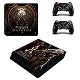 Playstation 4 Slim + 2 Controller Aufkleber Schutzfolien Set - Assassins Creed Origins (3) /PS4 S