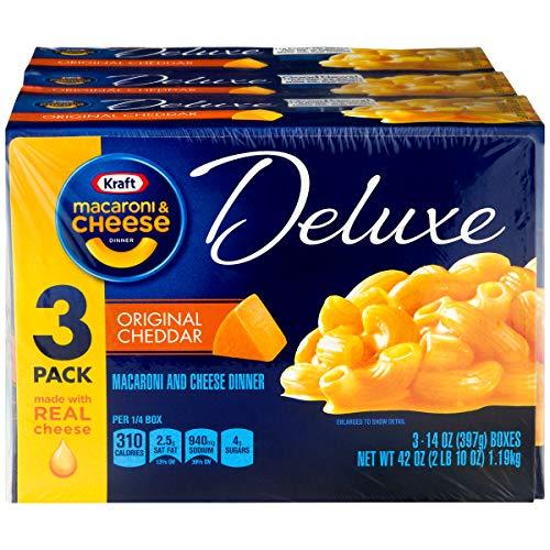 Kraft Deluxe Macaroni & Cheese Original Cheddar 3 Pack (397 Grams Per Box)