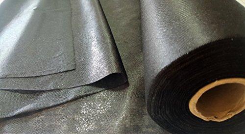 10 Meter, Vlieseline, Bügelvlies, Bügeleinlage, 34 g/m², 90cm, in schwarz, einseitig haftend, für sehr leichte bis mittelschwere Stoffe, 10m