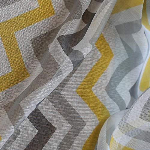 Cortinas amarillas y grises opacas 300x265 cm
