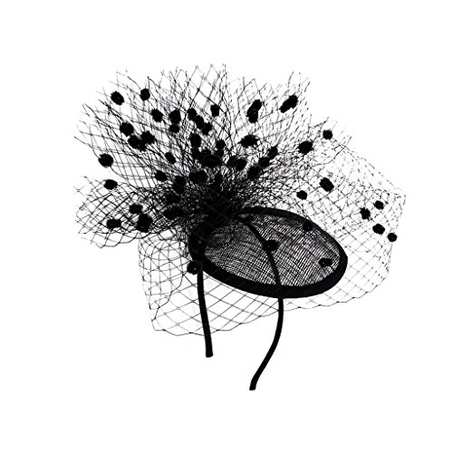 MagiDeal Elegante Frauen Dame fascinator Schleier Hut headwear Partei fancy Kleid schwarz