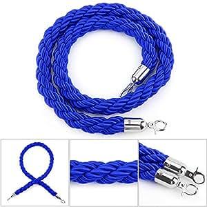 AllRight Twisted Queue Rope Queue Posts 1.5m Blue