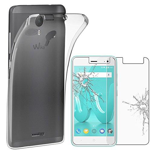 ebestStar - Wiko Jerry 2 Hülle [Phone: 144 x 72.8 x 9.3mm, 5.0''] Handyhülle [Ultra Dünn], Premium Durchsichtige Klar TPU Schutzhülle, Soft Flex Silikon, Transparent + Panzerglas Schutzfolie