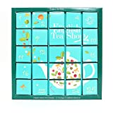English Tea Shop Organic Blue Advent Calendar Tea Bags,25-Count