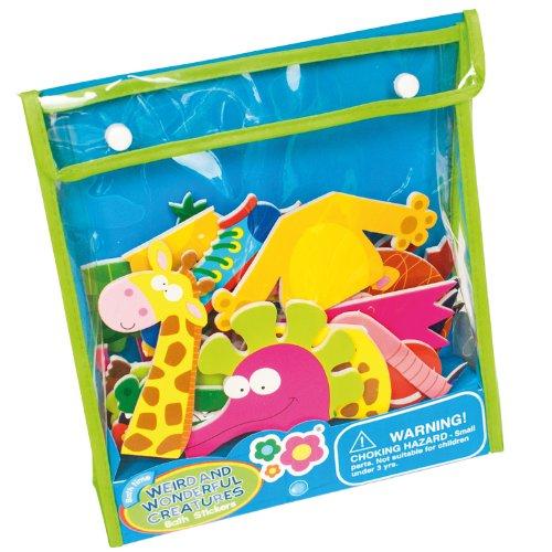 meadow-kids-mea-mk035-weird-and-wonderful-animals-juego-de-recortables-adhesivos-para-el-bano-diseno