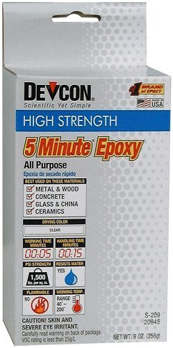 Devcon 5 Min Epoxy (5 Min Epoxy- Two 4 1/2oz Bottles - GLU-720.90 by Devcon)