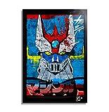 Arthole.it Go Nagai Mazinger Z - Quadro Pop-Art Originale con Cornice, Dipinto, Stampa su Tela, Poster, Locandina, Serie TV, Anime, Manga, Robot