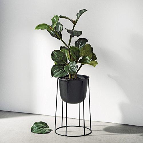 Menu 4774539 Blumen-/Pflanztopf, Metall, schwarz, 23 x 23 x 17 cm - 3