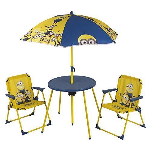 COLORBABY-Set Tisch, Stühlen und Sonnenschirm–Minions (76576)