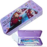 PP Disney Barbie Princesses Hexa Code Lock Multipurpose Kids Stationary Holder Pen / Pencil Holder Case Pencil Box With Stationary For School Kids Boys & Girls (Colours May Vary)
