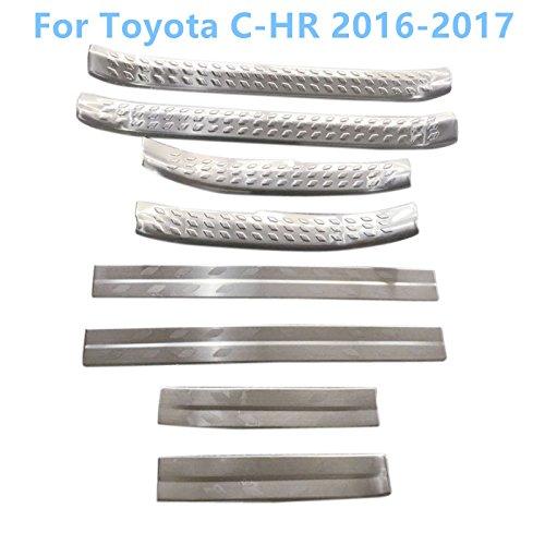 Für C-HR CHR 2016 2017 2018 Einstiegsleisten Türschweller 8 Stück Edelstahl