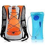 Lixada 5L Fahrradrucksack mit 2L Wasser Blase MTB Fahrrad Radfahren Wandern Camping Trinkrucksack Wasser Tasche für Männer und Frauen