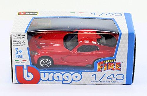 new-burago-1-43-diecast-model-car-dodge-viper-2013-gts-srt-coupe-in-red-burago-street-fire-range