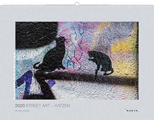 Street Art – Katzen 2020: Kalender 2020 (KUNTH Wandkalender Grau / PHOTOGRAPHICS)