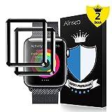 Alinsea Schutzfolie für iWatch 42mm (2 Stück ), Alinsea Panzerglas Bildschirmschutzfolie [9H Härte] [Kristall-Klar] [Blasenfrei] für iWatch 42mm Series 1 /2 / 3, Sport, Edition, Nike+