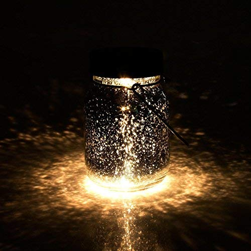2018 NEUER Stil LED Solar Mason Jar 10 LED String Fairy Lichter für Garten Patio Party Hochzeit Weihnachten Dekorative Beleuchtung Warm Weiß (Warmes Weiß, Mit Glas) (2018 Neu)