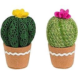 Cactus con flor ganchillo