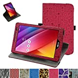 ASUS Zenpad 8.0 Z380C Rotating Case,Mama Mouth 360 Degree Rotary Stand With Cute Lovely Pattern Cover For 8