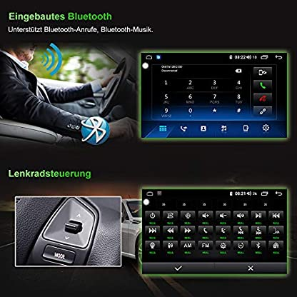 AWESAFE-Autoradio-1-DIN-9-Zoll-Android-81-Radio-mit-Navi-fr-VW-Seat-Skoda-untersttzt-CarPlay-4G-WiFi-Lenkradsteuerung