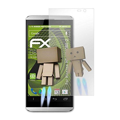 atFolix Bildschirmfolie kompatibel mit Hisense HS-U980BE-2 Spiegelfolie, Spiegeleffekt FX Schutzfolie