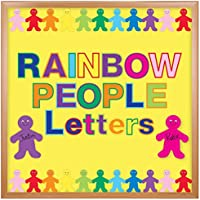 """Hygloss, Punch Out Bulletin Board Letters and Numbers Rainbow Design Combo Pack, 3"""""""