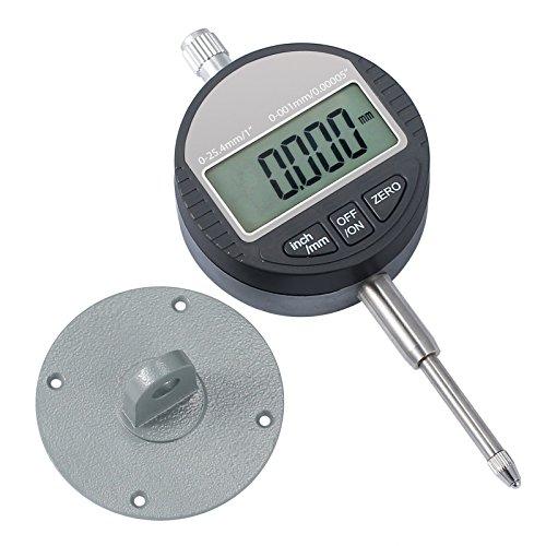 AUTOUTLET Digitale Messuhr 0.001mm/0.00005\'\'Digital Messtaster 0-25.4mm/1\'\' Messbereich Digital Indikator Messgerät Nullstellung Dial Test Indicators für Labor Werkstatt usw