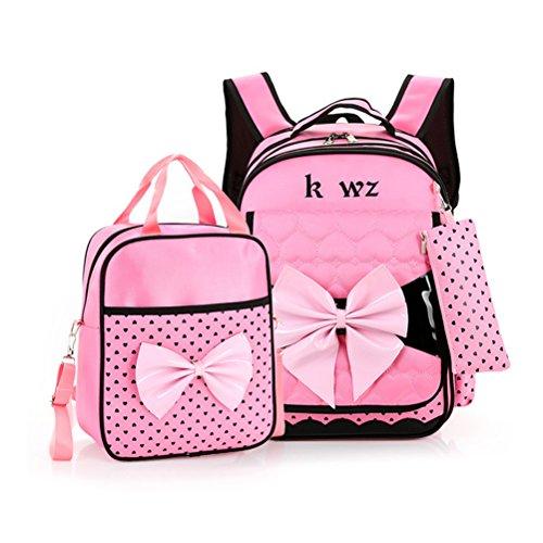 Zhuhaitf Backpack Schüler Mädchen Kinder Schützen Sie Spinal Schulranzen Rucksack & Klein Handtasche Prinzessin Rucksäcke