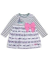 The Essential One - Baby Kinder Mädchen Kleid - WeiB/Marineblau/Grun - EOT331