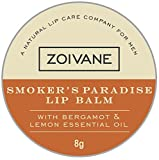 Zoivane Men Smoker's Paradise Lip Balm For DARK and SHINE- FREE LIPS – Lemon and Bergamot Essential Oil with tinch of geranium essential oil, 8g
