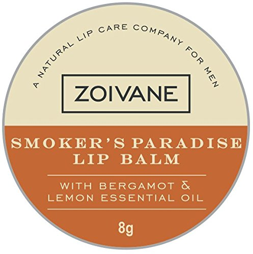Zoivane Men Smoker's Paradise Lip Balm For DARK and SHINE- FREE LIPS - Lemon and Bergamot Essential Oil, 8g  available at amazon for Rs.249
