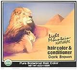 Light Mountain Colorant capillaire et après-shampooing - Henné marron foncé - Couleur naturelle - 120 ml