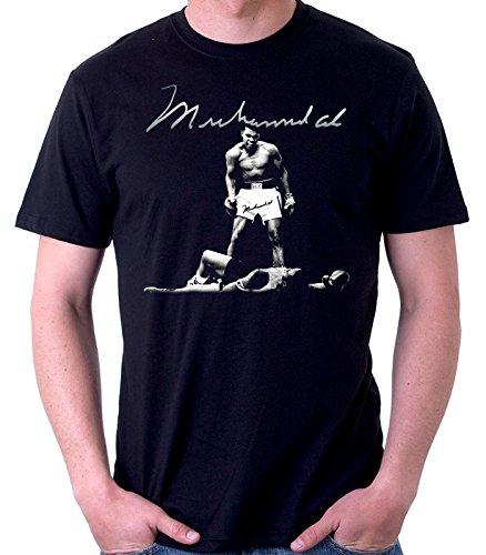 35mm - Camiseta Hombre - Muhammad Ali - Boxeo-Boxing - T-Shirt, Negra, XL