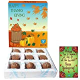 BOGATCHI ThanksGiving Gifts, Thanks Giving Chocolates, Premium Chocolate Candy Box, 9 pieces, FREE Thanks Giving Greetings Card