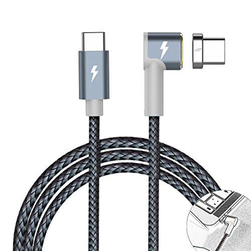 Looyat Magnetisches USB Typ C Kabel für MacBook Pro für Ipad Pro (Grau)