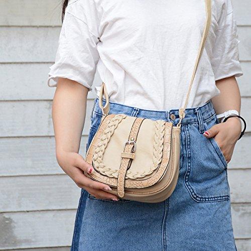 2017 Frau Kuriertasche Gürtelschnalle Umhängetasche Einfache Retro Mini Mini Tasche Handtasche Beige